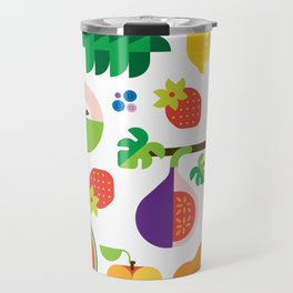 Fruit Medley White Travel Mug