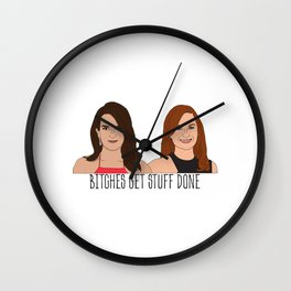 Tinamy Tina Fey and Amy Poehler Bitches Get Stuff Done Wall Clock