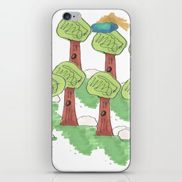 TREES UNDER THE CLOUNDS iPhone Skin