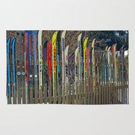 Colorado Ski Fence Rug