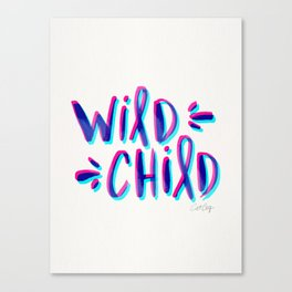 Wild Child – Magenta & Cyan Palette Canvas Print