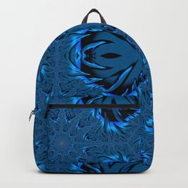Frost Forming on The Lake Waters Fractal Abstract Backpack
