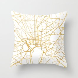 WASHINGTON D.C. DISTRICT OF COLUMBIA CITY STREET MAP ART Throw Pillow