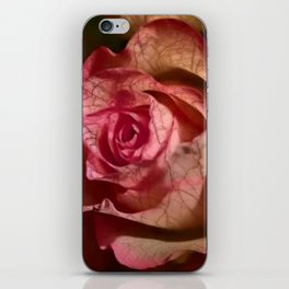 Extra veins on a rose iPhone Skin