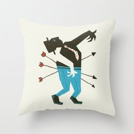 Dust Bowl Banker Throw Pillow