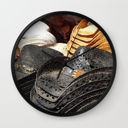 Cowboy Hats - Grunge Wall Clock
