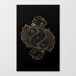 Pisces Gold Canvas Print