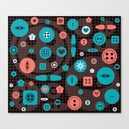 button it Canvas Print