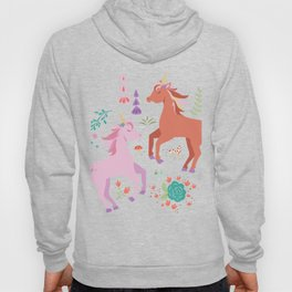 Pink and Coral Unicorns Hoody