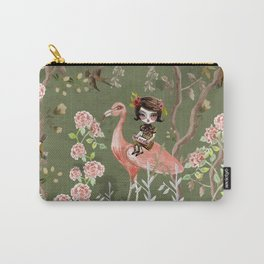 Green Chinese Forest Carry-All Pouch