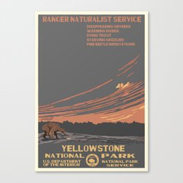 National Parks 2050: Yellowstone Canvas Print