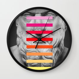 Sculpture With A Spectrum 2 Wall Clock