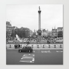 Trafalgar Square, London England Canvas Print