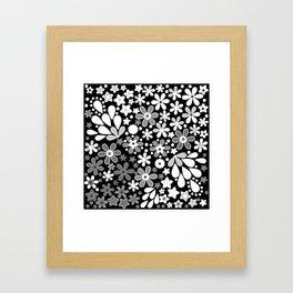 Retro. Floral motifs 4 Framed Art Print