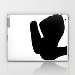 Nude silhouette figure - Nude black 001 Laptop & iPad Skin