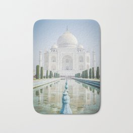 Taj Mahal Water Reflection Bath Mat