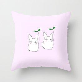 lil Totoros Throw Pillow
