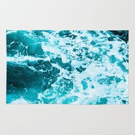 Deep Turquoise Sea - Nature Photography Rug
