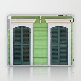 Green Creole Cottage Laptop & iPad Skin