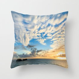 Cape Meares Sunset Throw Pillow