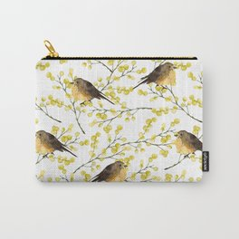 Mimosa and birds Carry-All Pouch