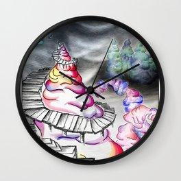 Coloured Shaving Cream - Whimsical Wall Clock