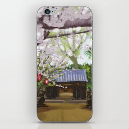 Cherry trees in Japan iPhone Skin