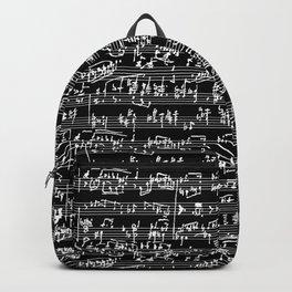Hand Written Sheet Music // Black Backpack
