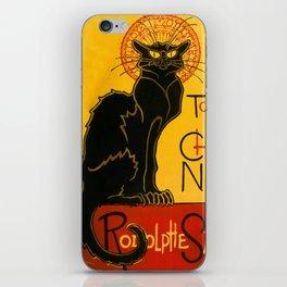 Le Chat Noir The Black Cat Art Nouveau iPhone Skin