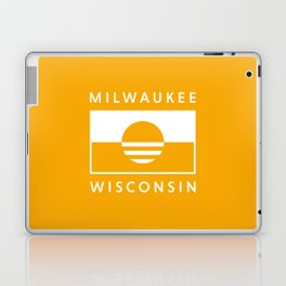 Milwaukee Wisconsin - Gold - People's Flag of Milwaukee Laptop & iPad Skin