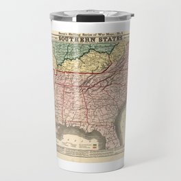 Map of the Southern States during the Civil War (1863) Travel Mug