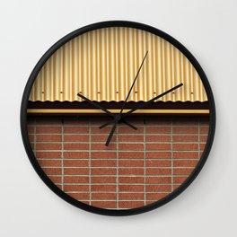 Brick and Metal Wall Clock
