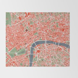 London city map classic Throw Blanket