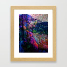 Coloured Layers Framed Art Print