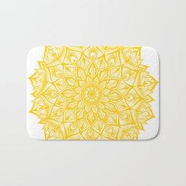 Snowflake-Yellow Bath Mat