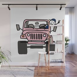 Jeep Wave Pink - Boy Wall Mural