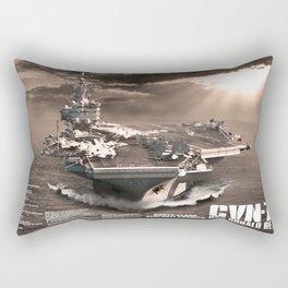 Aircraft carrier Ronald Reagan Rectangular Pillow