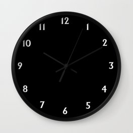 Solid Black Wall Clock