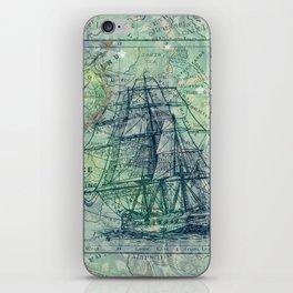Vintage Clipper Ship iPhone Skin