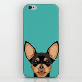 Chihuahua dog head pet portrait cute pet art chiwawas dog breed pure breeds iPhone Skin