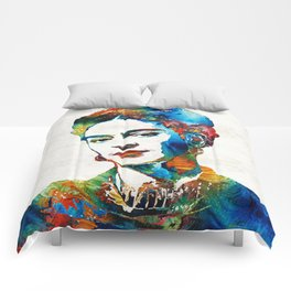 Frida Kahlo Art - Viva La Frida - By Sharon Cummings Comforters