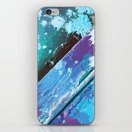 Texture 10. Neon Blue iPhone Skin