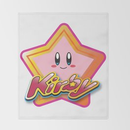 Kirby the Superstar (Icon) Throw Blanket