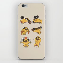 Chest Day with The Pug iPhone Skin