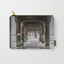 Surfer in Manhattan Beach, California Carry-All Pouch