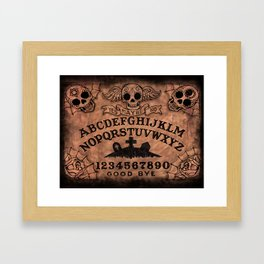 Sugar Skull ouija board Framed Art Print