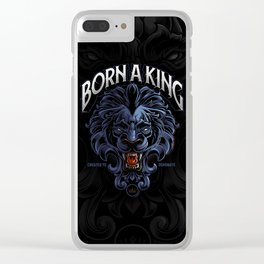 Born A King Clear iPhone Case