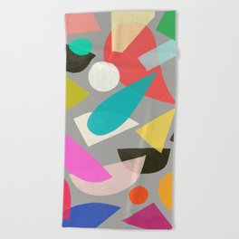 colored toys 1 Beach Towel