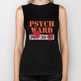 Psych Ward Patient T-Shirt Blood Splatter Scary Asylum Tee Biker Tank