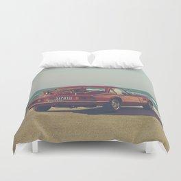 Red Supercar, classic car, triumph, spitfire, color photo, interior design, old car, auto Duvet Cover